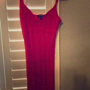 Bebe Red Maxi Dress Size Small